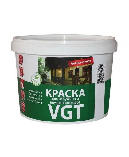 Краска фасадная ВД-АК-1180 д/нар.и внутр. работ белоснежная 3кг VGT