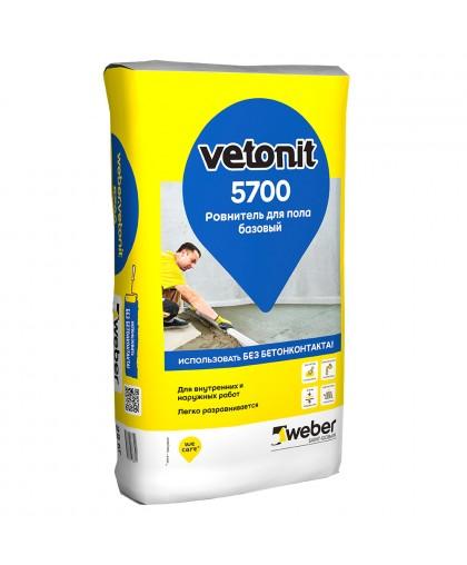 Ровнитель для пола Weber.vetonit 5700 25 кг