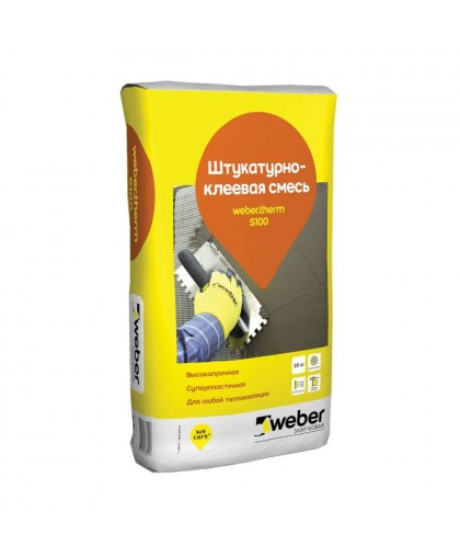 Штукатурно-клеевая смесь Weber.therm S100 25 кг