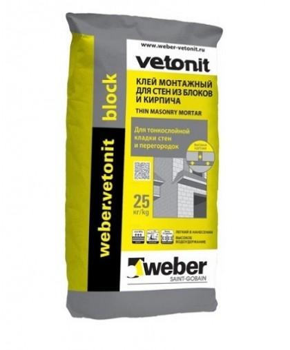 Клей для блока Weber.vetonit block 25 кг