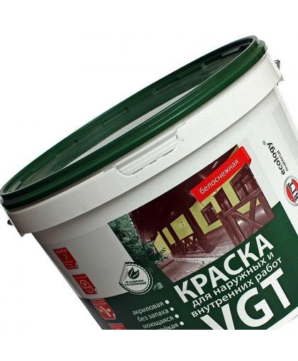 Краска фасадная ВД-АК-1180 д/нар.и внутр. работ белоснежная 7кг VGT