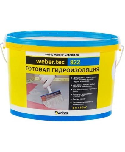 Гидроизоляция Weber.tec 822 серый 8кг