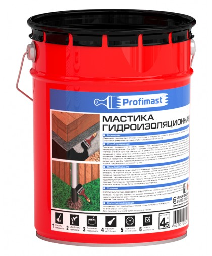 Мастика гидроизоляционная New Profimast (5л/4,5 кг)